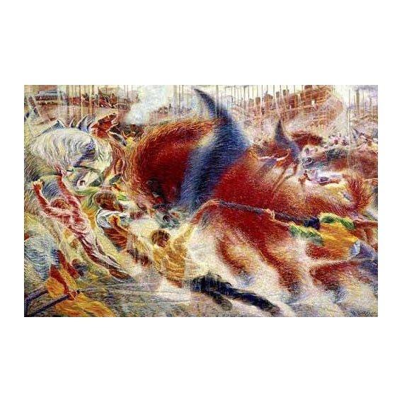 pinturas abstratas - Quadro -La ciudad se levanta-