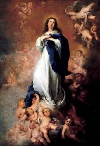 cuadros religiosos - Cuadro -Inmaculada Concepcióon de Soult- - Murillo, Bartolome Esteban