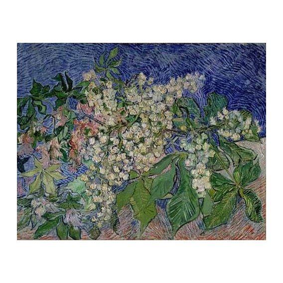 pinturas de paisagens - Quadro -Ramas de castaño en flor-