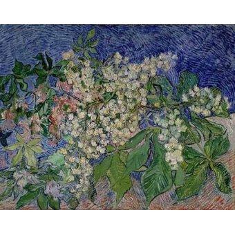 quadros de paisagens - Quadro -Ramas de castaño en flor- - Van Gogh, Vincent