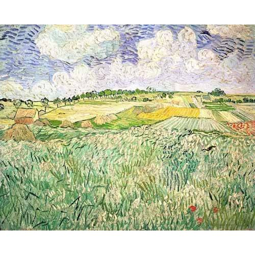 pinturas de paisagens - Quadro -El claro de Auvers-