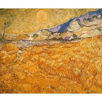 quadros de paisagens - Quadro -El segador- - Van Gogh, Vincent