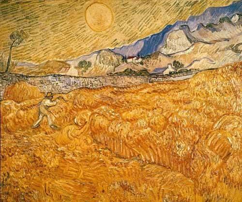 quadros-de-paisagens - Quadro -El segador- - Van Gogh, Vincent