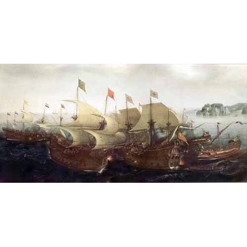 Quadro -Batalla Naval-