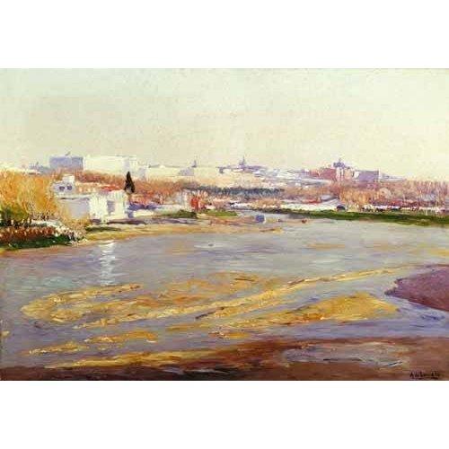 pinturas de paisagens - Quadro -Orillas del Manzanares - Madrid-