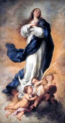 religious paintings - Picture -Inmaculada Concepción de Aranjuez- - Murillo, Bartolome Esteban