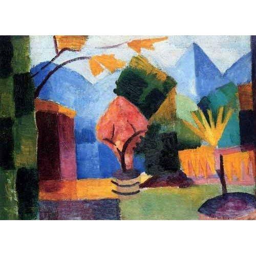 pinturas abstratas - Quadro -Jardin en Lago Thuner-