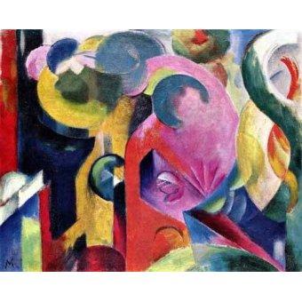Quadros abstratos - Quadro -Composition of III- - Marc, Franz