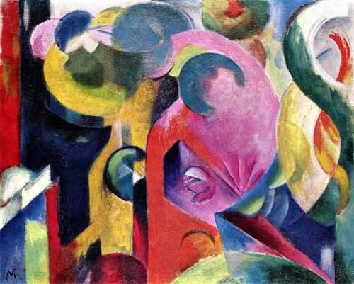 quadros-abstratos - Quadro -Composition of III- - Marc, Franz