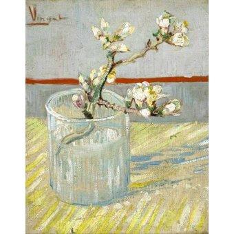 - Quadro -Rama de almendro en flor, en vaso de cristal - - Van Gogh, Vincent