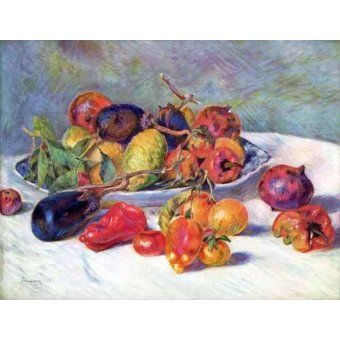 - Quadro -Frutos del Mediterraneo - - Renoir, Pierre Auguste