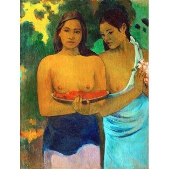 quadros nu artistico - Quadro -Señoras tahitianas II- - Gauguin, Paul