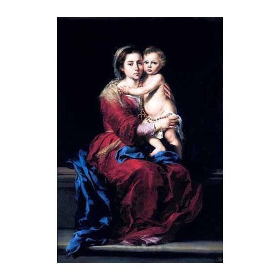 imagens religiosas - Quadro -La Virgen del Rosario-