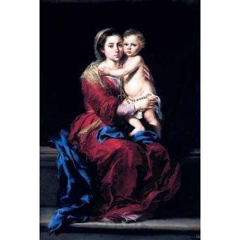 - Quadro -La Virgen del Rosario- - Murillo, Bartolome Esteban