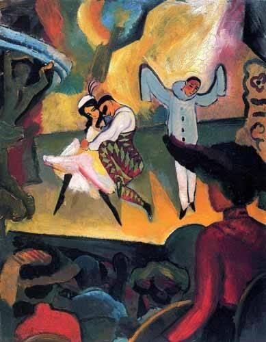 pinturas-de-retratos - Quadro -Ballet ruso- - Macke, August