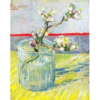 quadros de flores - Quadro -Rama de almendro en flor, en vaso de cristal- - Van Gogh, Vincent