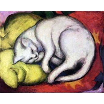 quadros de animais - Quadro -Tomcat sobre cojin amarillo- - Marc, Franz