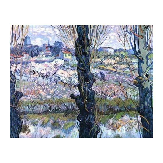 pinturas de paisagens - Quadro -Vista de Arles-