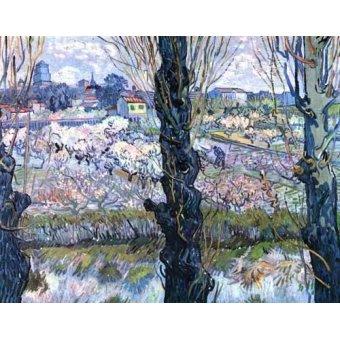 quadros de paisagens - Quadro -Vista de Arles- - Van Gogh, Vincent