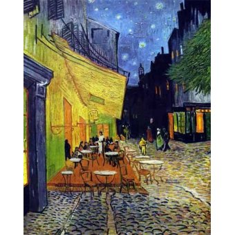 landscapes - Picture -Cafe Terrace Place du Forum Arles- - Van Gogh, Vincent
