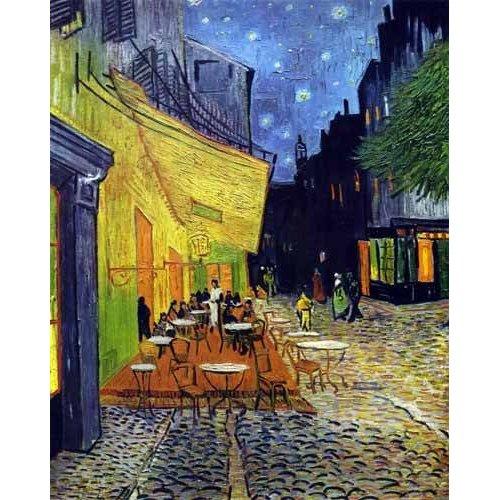 pinturas de paisagens - Quadro -Cafe Terrace Place du Forum Arles-