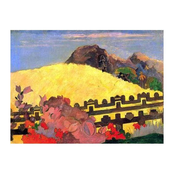 pinturas de paisagens - Quadro -Parahi te marae (El templo está allí)-