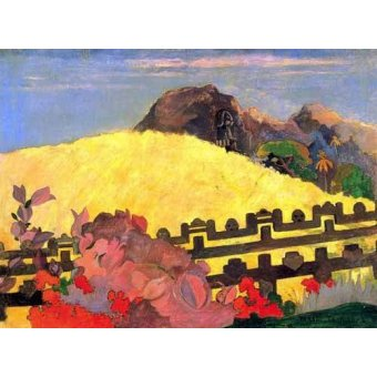 - Quadro -Parahi te marae (El templo está allí)- - Gauguin, Paul
