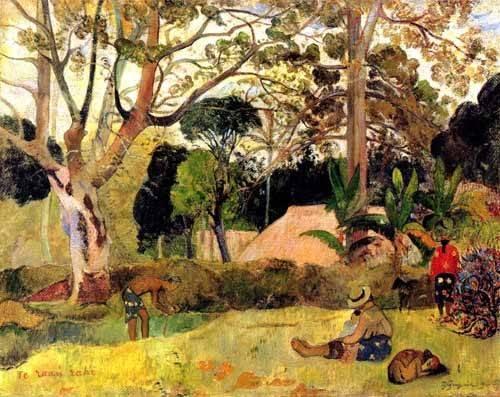 quadros-de-paisagens - Quadro -Te raaú rahi- - Gauguin, Paul