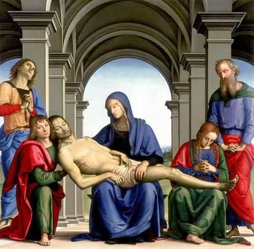 religious paintings - Picture -La Piedad- - Perugino, Pietro Vannucci