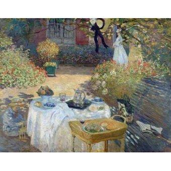 - Picture -Desayuno en el jardin de Monet- - Monet, Claude