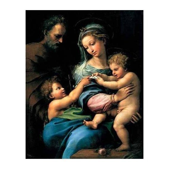 religious paintings - Picture -La Virgen de la Rosa-
