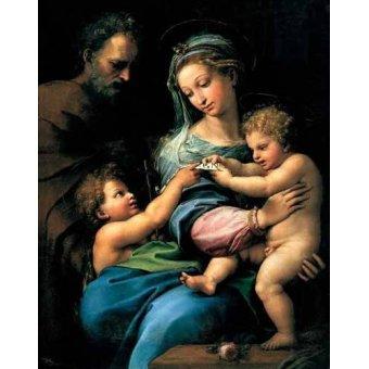 quadros religiosos - Quadro -La Virgen de la Rosa- - Rafael, Sanzio da Urbino Raffael