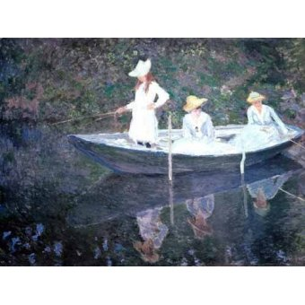 - Quadro -In The Norvegienne Boat At Giverny 1887- - Monet, Claude