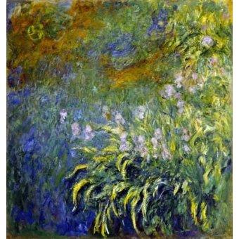 quadros de flores - Quadro -Lirios junto al estanque- - Monet, Claude