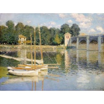 seascapes - Picture -Puente de Argenteuil- - Monet, Claude