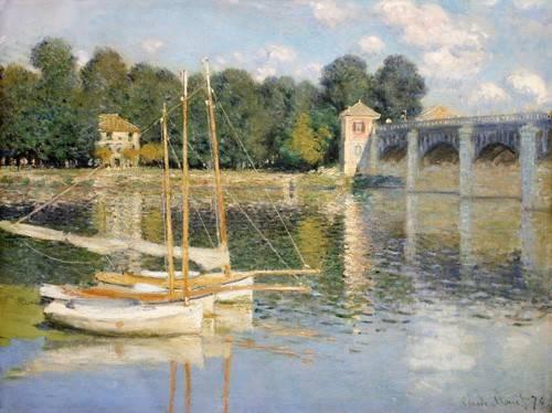 quadros-de-paisagens - Quadro -Puente de Argenteuil- - Monet, Claude