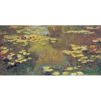 quadros de paisagens - Quadro -The Pond of Water Lilies, 1919- - Monet, Claude