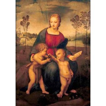 quadros religiosos - Quadro -La Virgen del Jilguero- - Rafael, Sanzio da Urbino Raffael