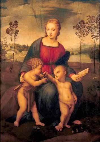 cuadros religiosos - Cuadro -La Virgen del Jilguero- - Rafael, Sanzio da Urbino Raffael