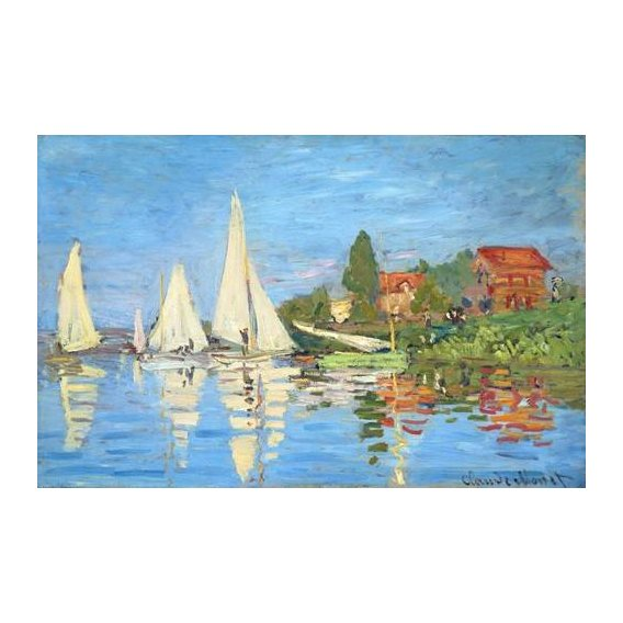 pinturas de paisagens marinhas - Quadro -La regata en Argenteuil-