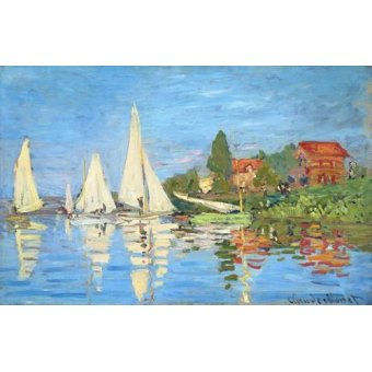 seascapes - Picture -La regata en Argenteuil- - Monet, Claude
