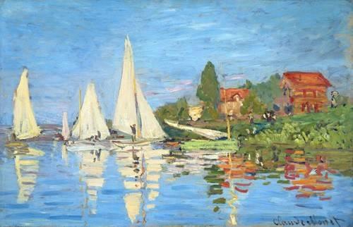 quadros-de-paisagens-marinhas - Quadro -La regata en Argenteuil- - Monet, Claude