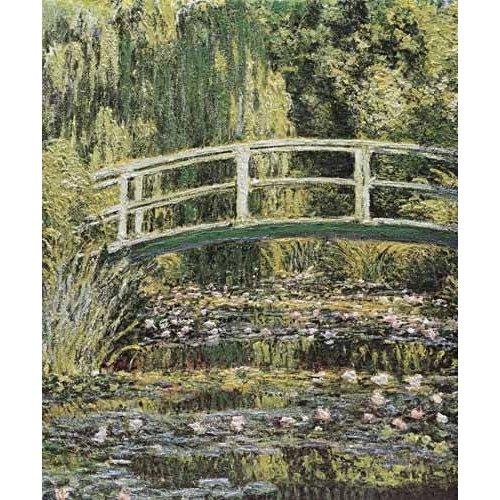 pinturas de paisagens - Quadro -Nenúfares y puente japones-