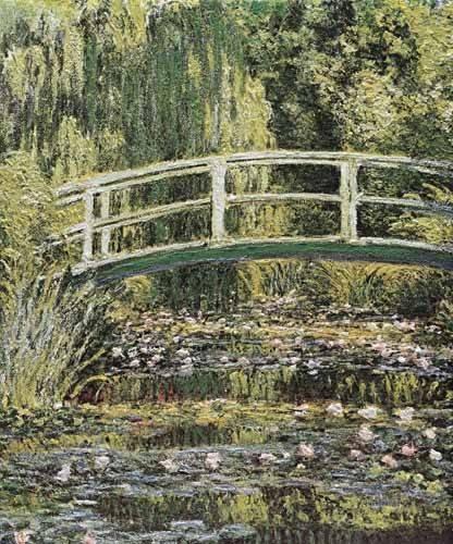 quadros-de-paisagens - Quadro -Nenúfares y puente japones- - Monet, Claude