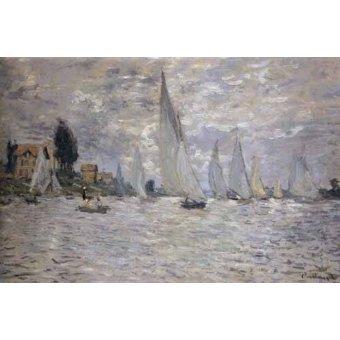 quadros de paisagens marinhas - Quadro -Regatas en Argenteuil- - Monet, Claude