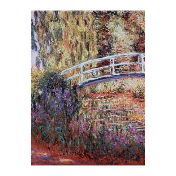 pinturas de paisagens - Quadro -El puente japones, estanque de nenúfares y lirios-