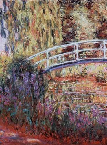 quadros-de-paisagens - Quadro -El puente japones, estanque de nenúfares y lirios- - Monet, Claude