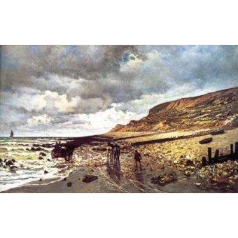 quadros de paisagens marinhas - Quadro -El Cabo de Heve con marea baja- - Monet, Claude
