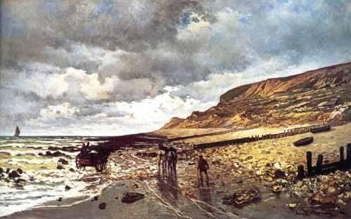 quadros-de-paisagens-marinhas - Quadro -El Cabo de Heve con marea baja- - Monet, Claude