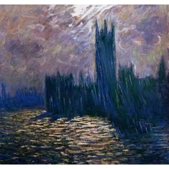 - Quadro -London Parliament, effects on the Thames, 1905- - Monet, Claude